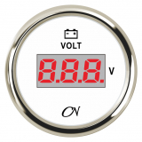 CN-Instrument Voltmeter Digital weiß/chrom